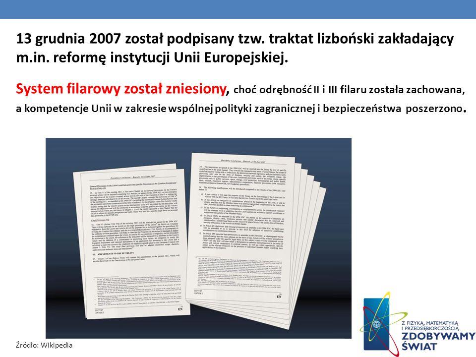 13 grudnia 2007 został podpisany tzw. traktat lizboński zakładający m