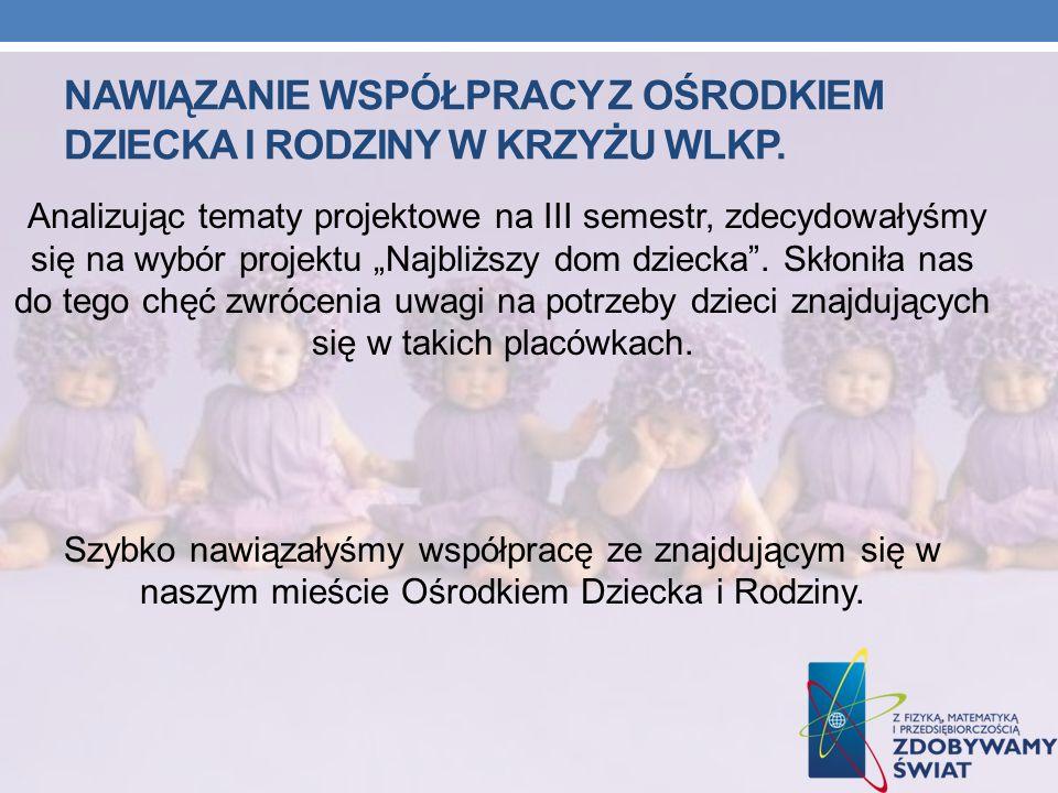 Nawiązanie współpracy z ośrodkiem dziecka i rodziny w krzyŻu wlkp.