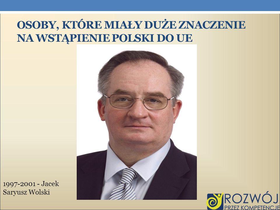 Osoby, które miały duże znaczenie na wstąpienie Polski do UE