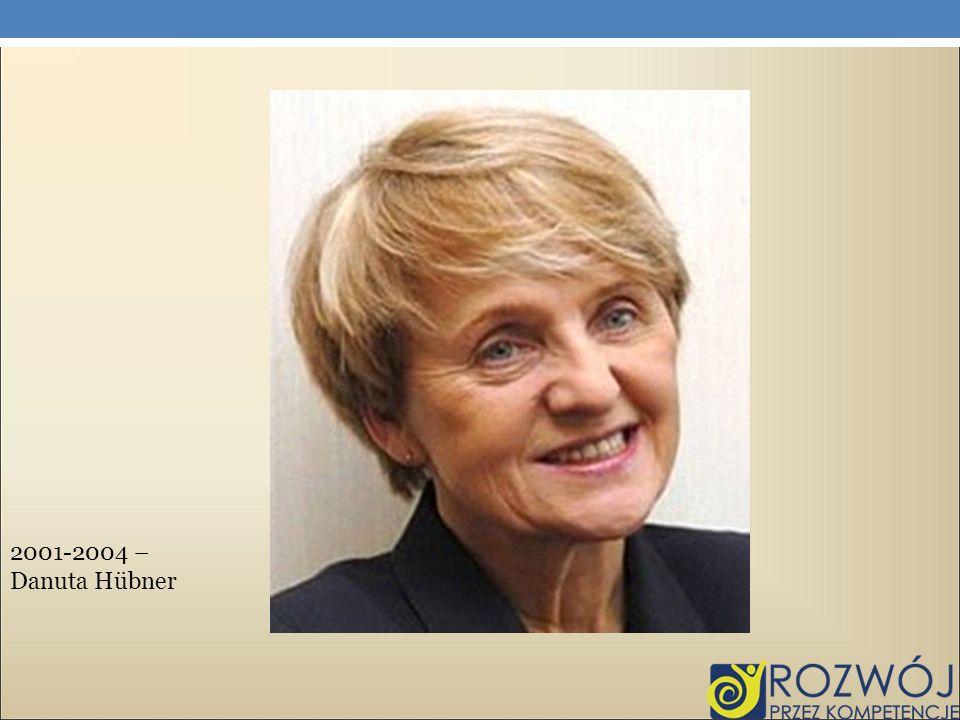 2001-2004 – Danuta Hübner