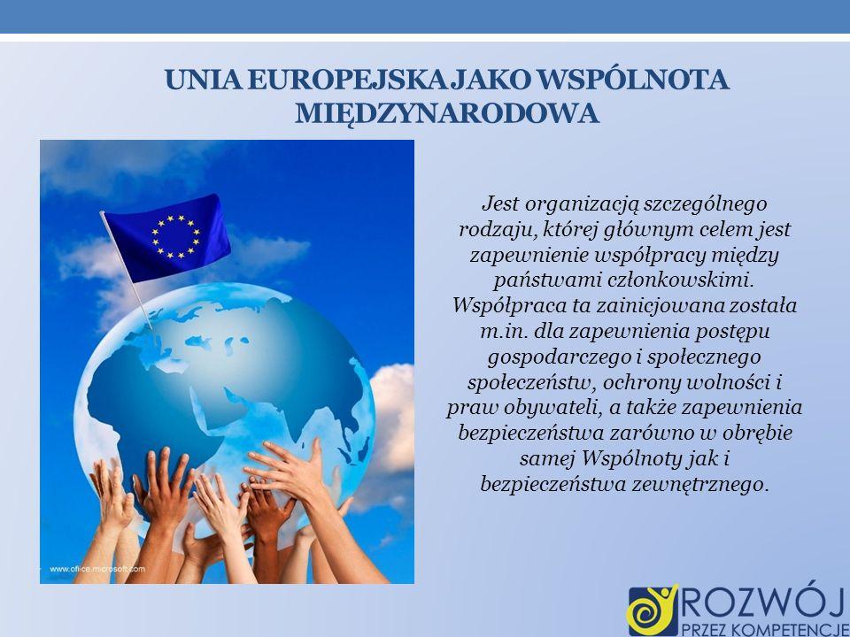 UNIA EUROPEJSKA jako wspólnota międzynarodowa