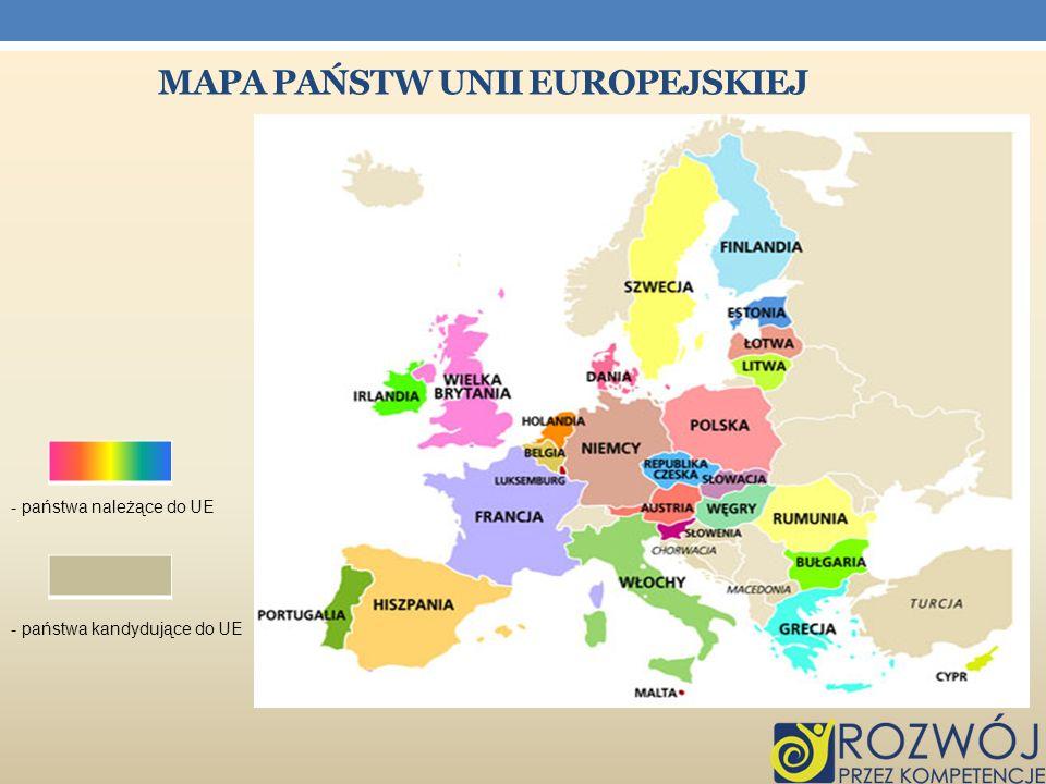 Mapa państw Unii europejskiej