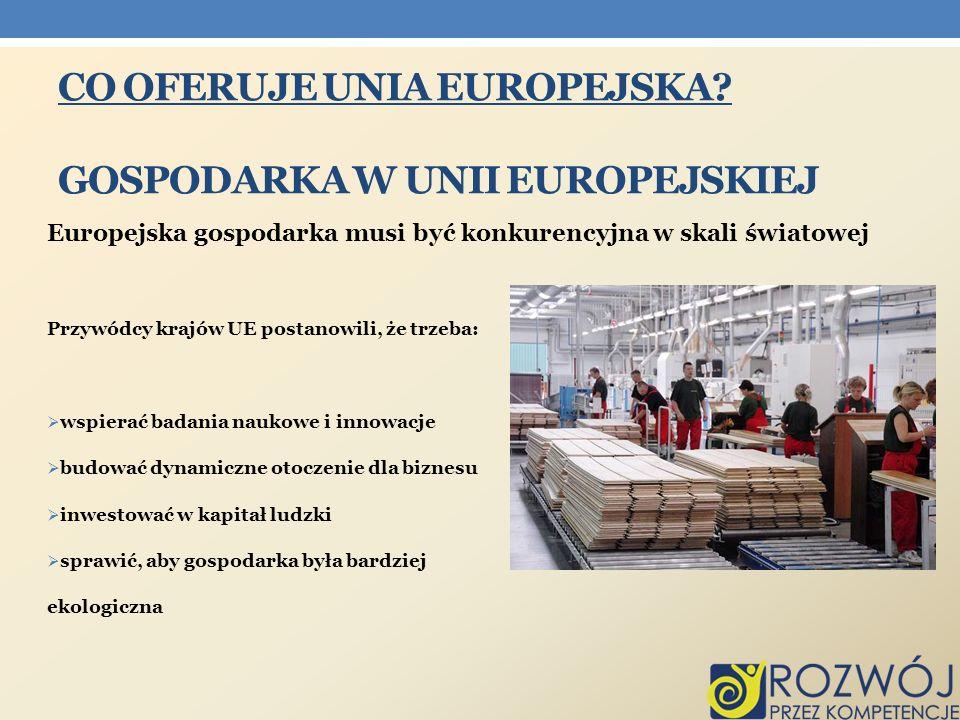 Co oferuje Unia Europejska Gospodarka w Unii europejskiej