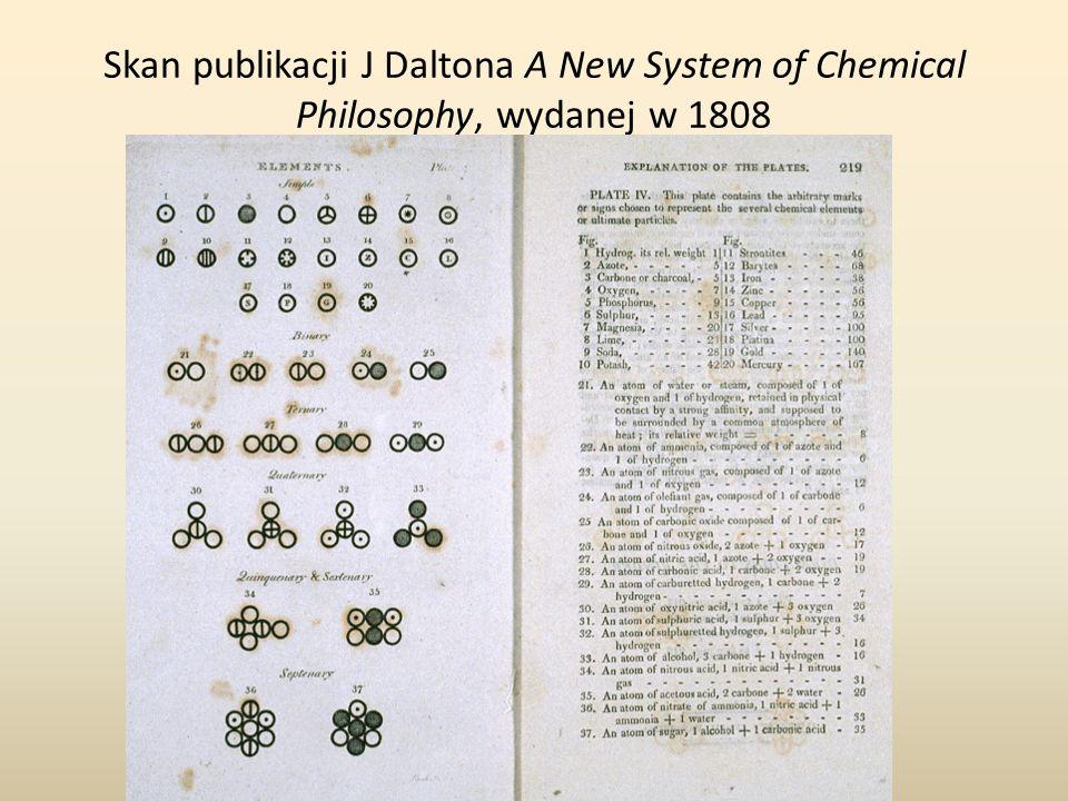 Skan publikacji J Daltona A New System of Chemical Philosophy, wydanej w 1808