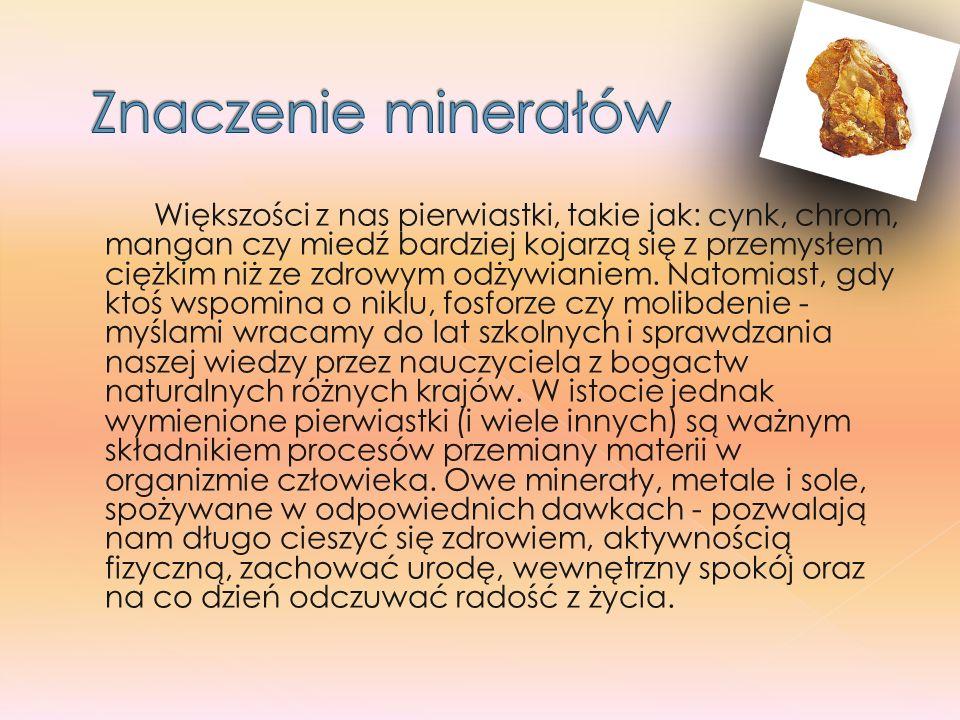 Znaczenie minerałów