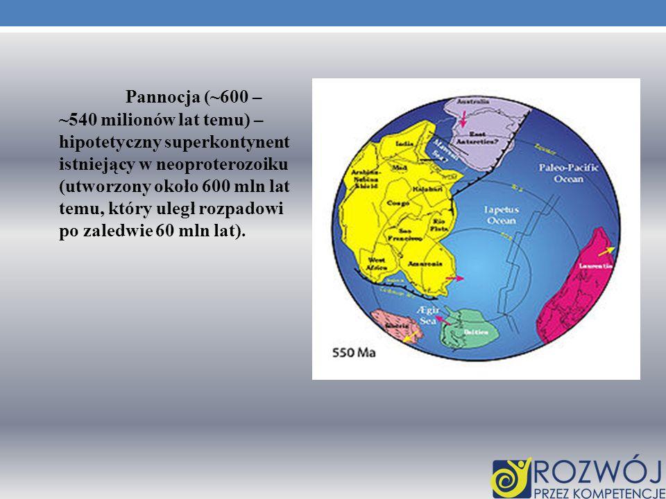 Pannocja (~600 – ~540 milionów lat temu) – hipotetyczny superkontynent istniejący w neoproterozoiku (utworzony około 600 mln lat temu, który uległ rozpadowi po zaledwie 60 mln lat).