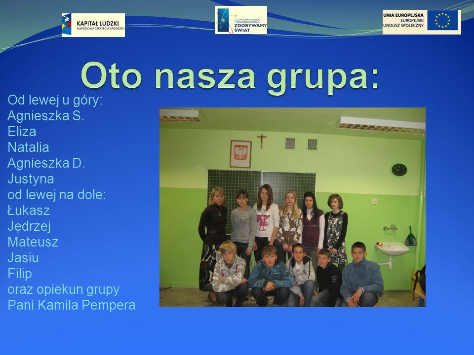 Oto nasza grupa: Od lewej u góry: Agnieszka S. Eliza Natalia