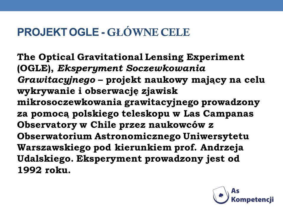 Projekt OGLE - Główne cele