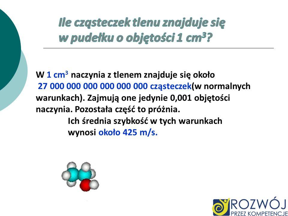 Ile cząsteczek tlenu znajduje się w pudełku o objętości 1 cm3