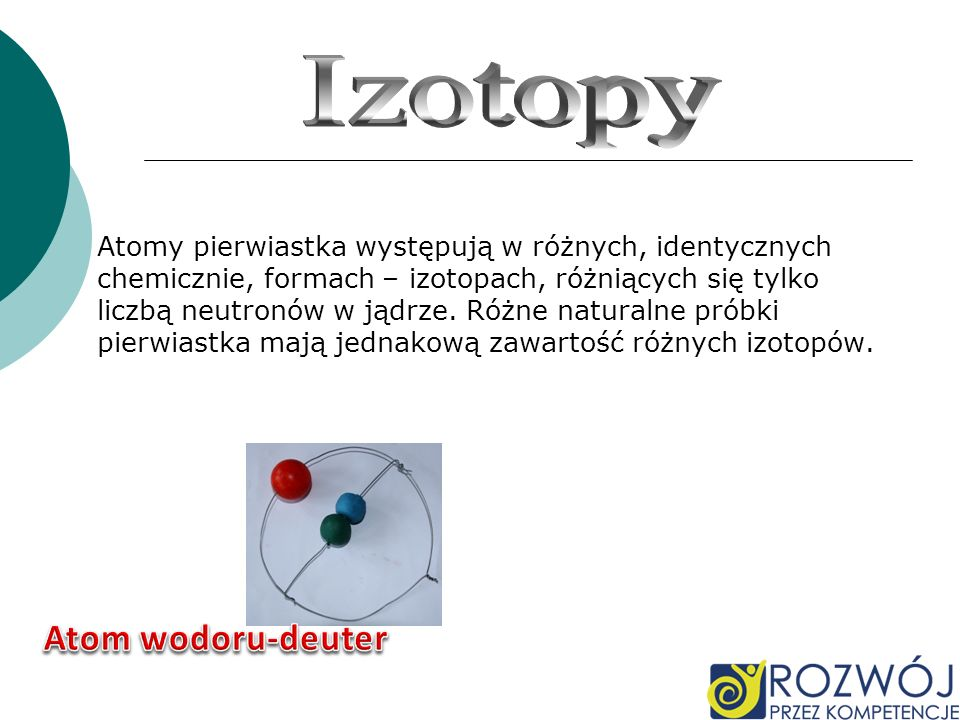 Atom wodoru-deuter Izotopy