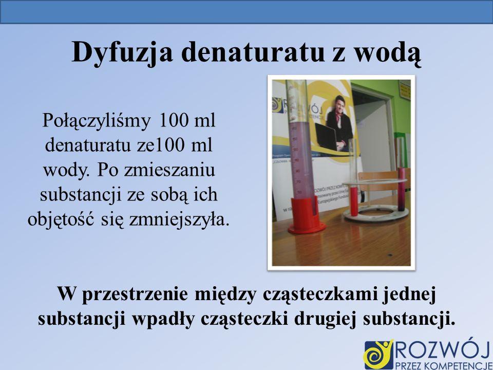 Dyfuzja denaturatu z wodą