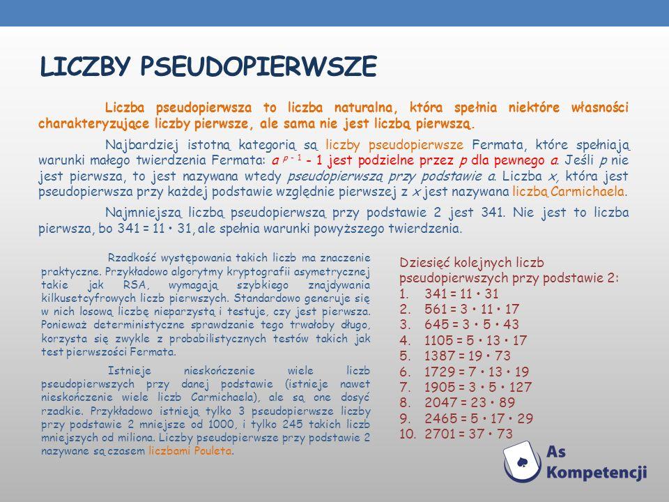 Liczby PSEUDOPIERWSZE