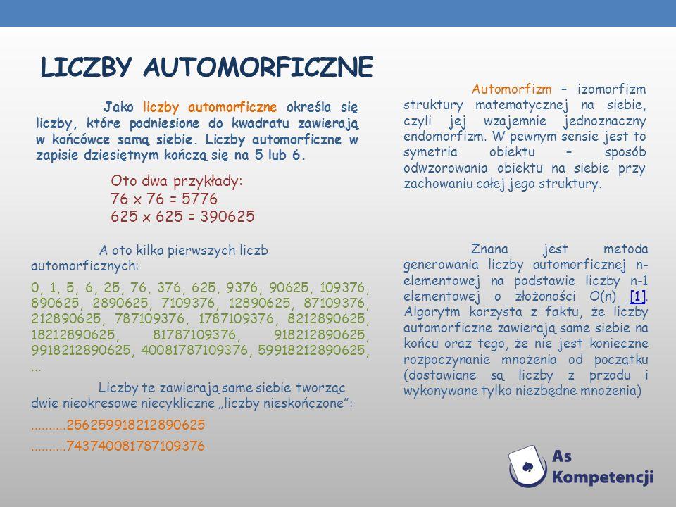 Liczby AUTOMORFICZNE