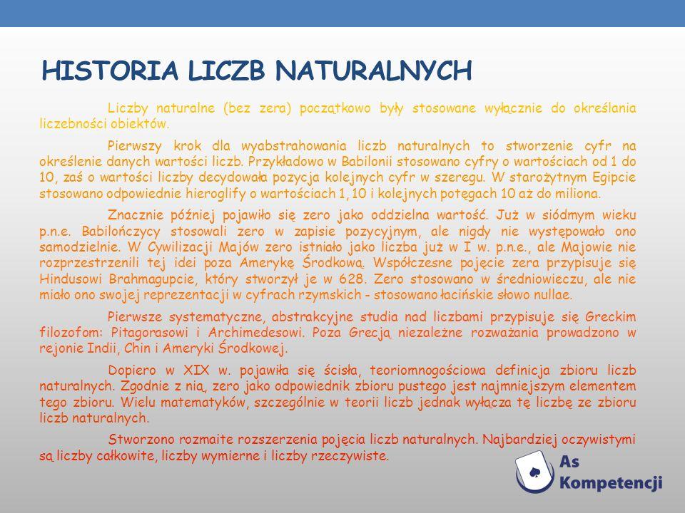Historia liczb naturalnych