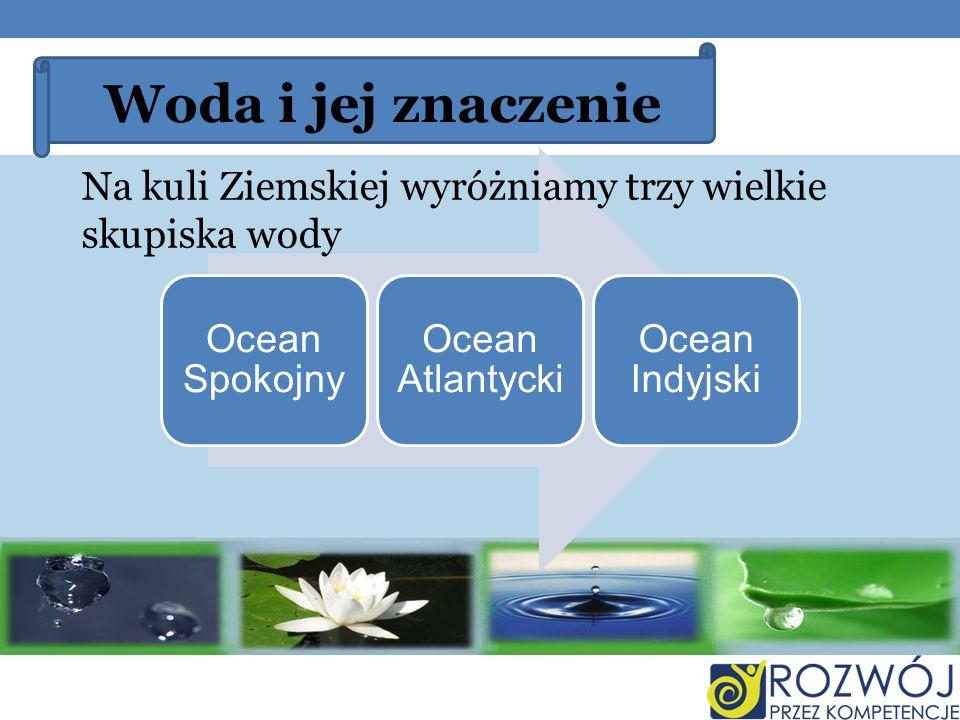 Woda i jej znaczenie Ocean Spokojny. Ocean Atlantycki.