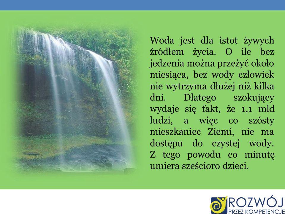 Woda jest dla istot żywych źródłem życia