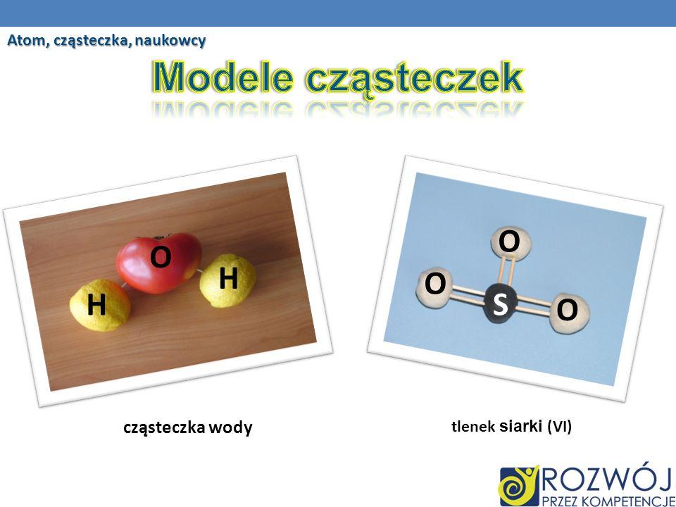 Modele cząsteczek O O H O H S O cząsteczka wody