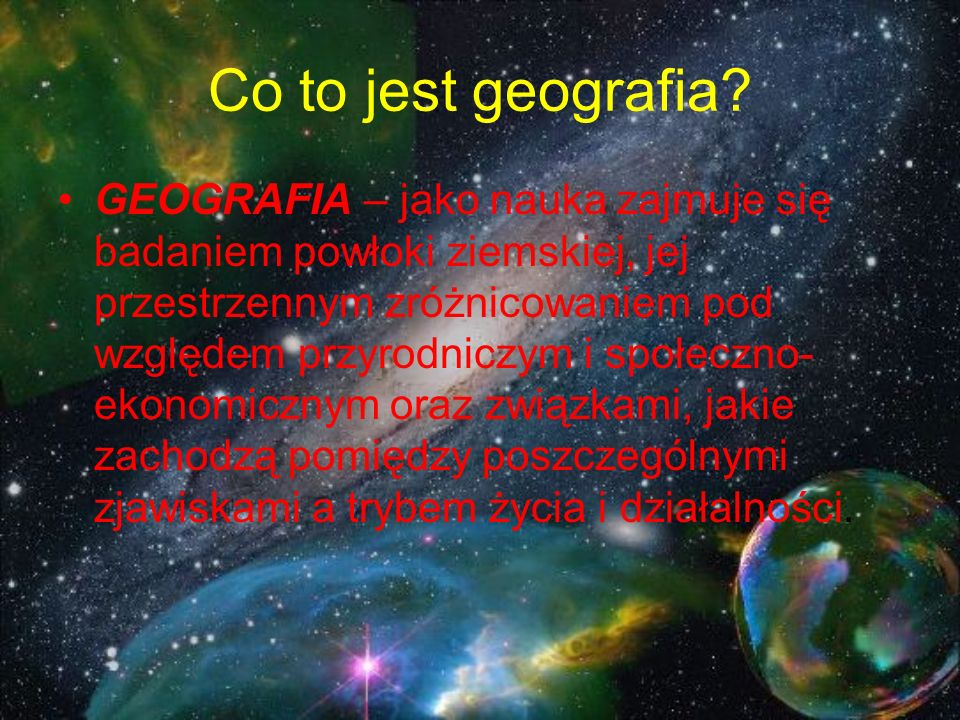 Co to jest geografia