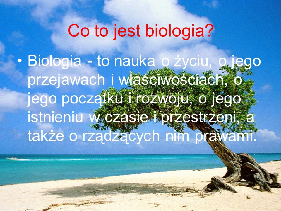 Co to jest biologia