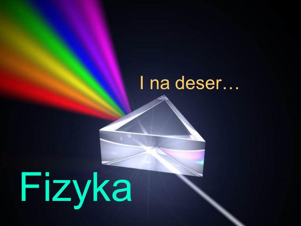 I na deser… Fizyka