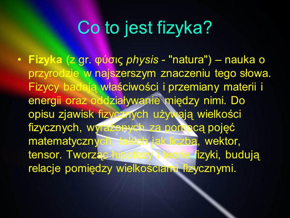 Co to jest fizyka