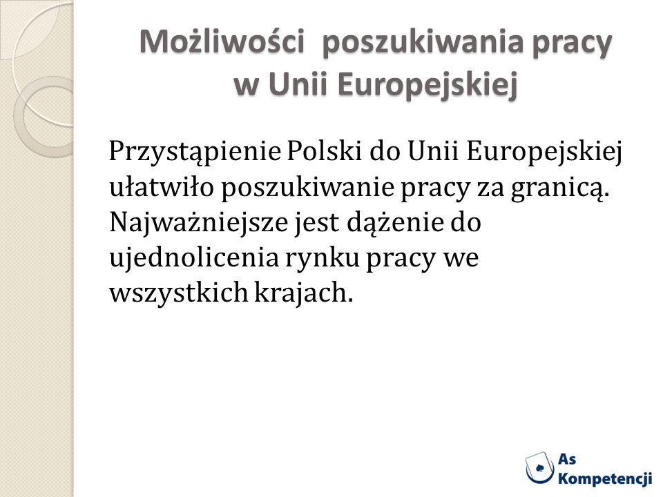Możliwości poszukiwania pracy w Unii Europejskiej