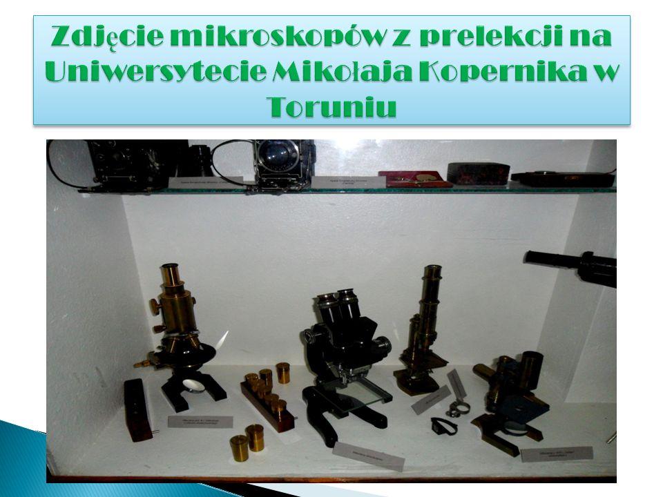 Zdjęcie mikroskopów z prelekcji na Uniwersytecie Mikołaja Kopernika w Toruniu