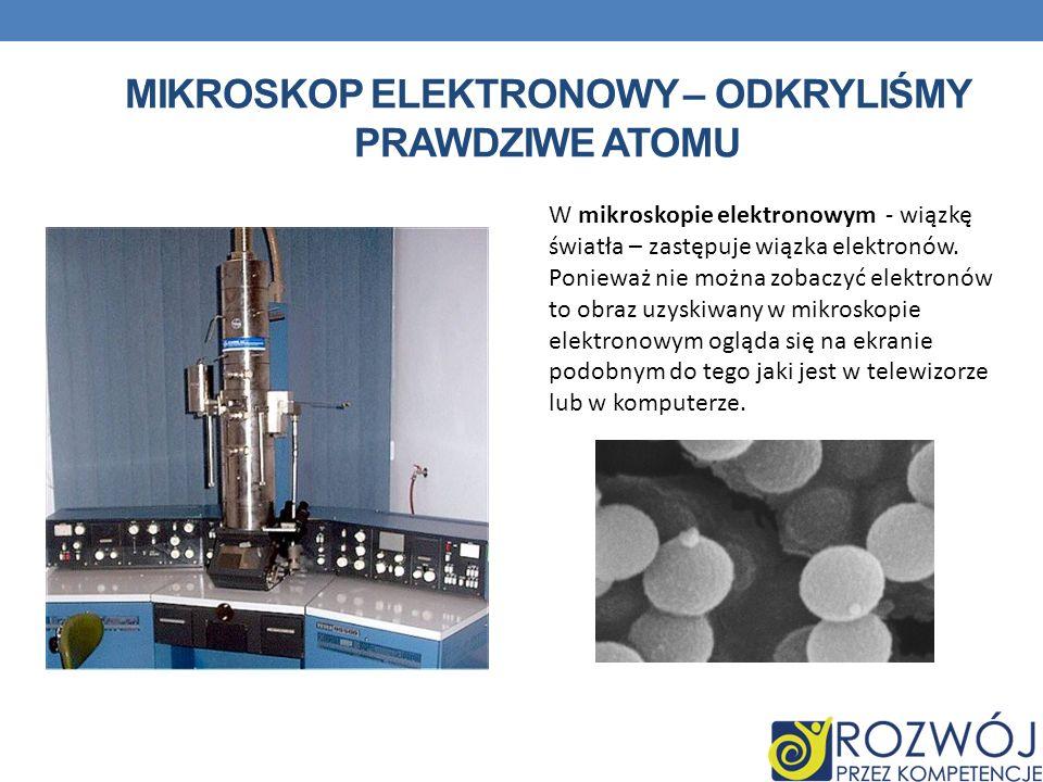Mikroskop ELEKTRONOWY – ODKRYLIŚMY PRAWDZIWE ATOMU