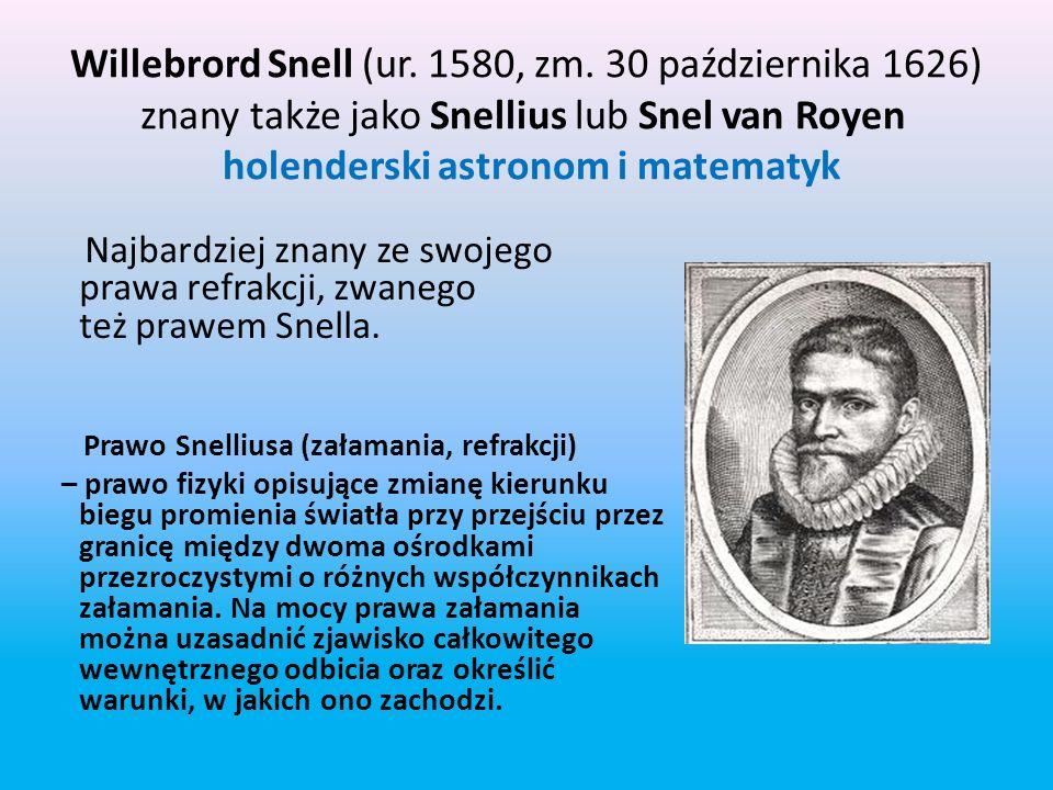 Willebrord Snell (ur. 1580, zm