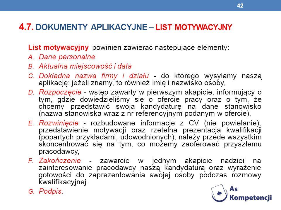4.7. dokumenty aplikacyjne – LIST MOTYWACYJNY