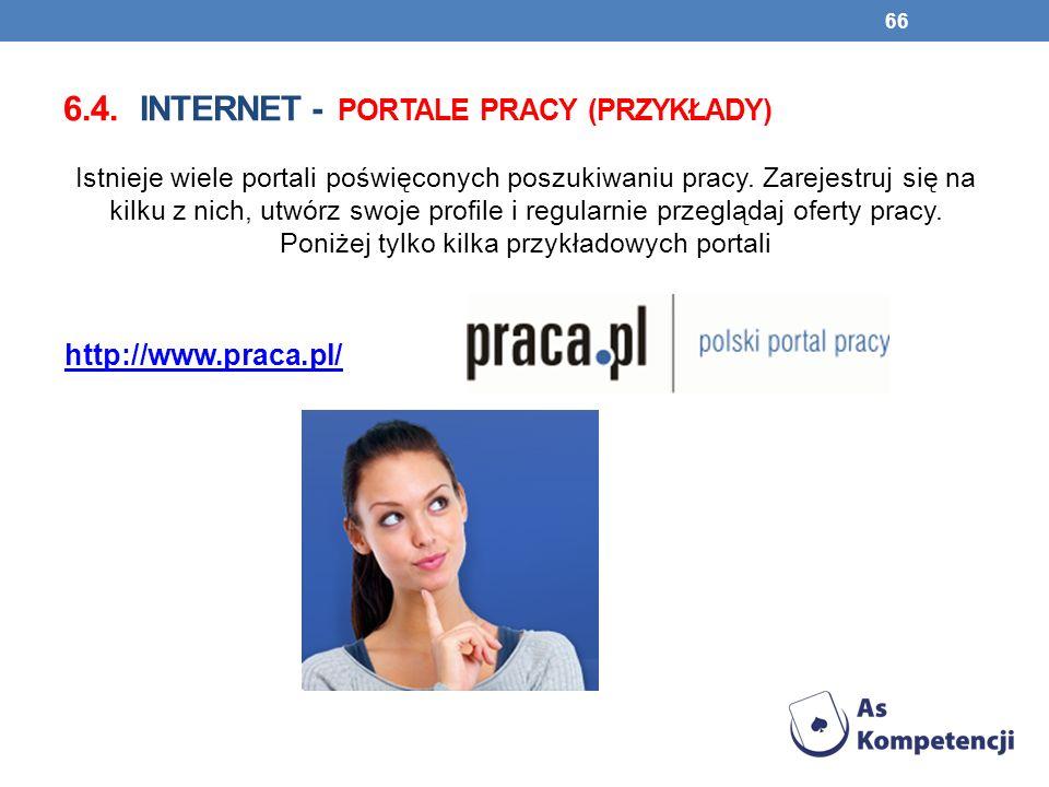 6.4. Internet - portale pracy (przykłady)