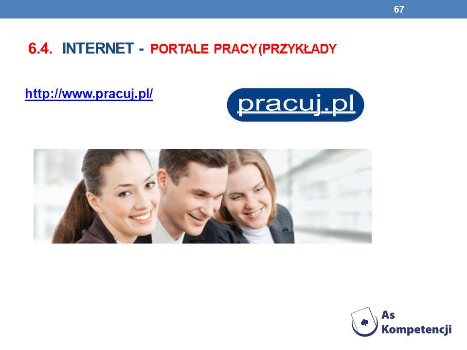 6.4. Internet - portale pracy (przykłady