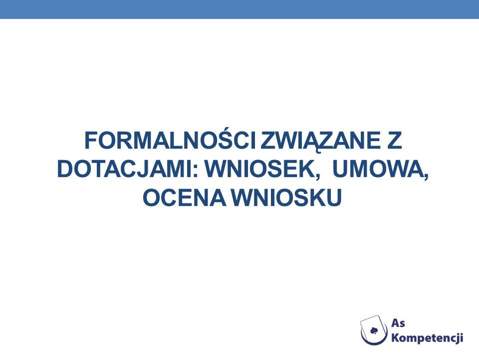 Formalności związane z dotacjami: Wniosek, umowa, ocena wniosku