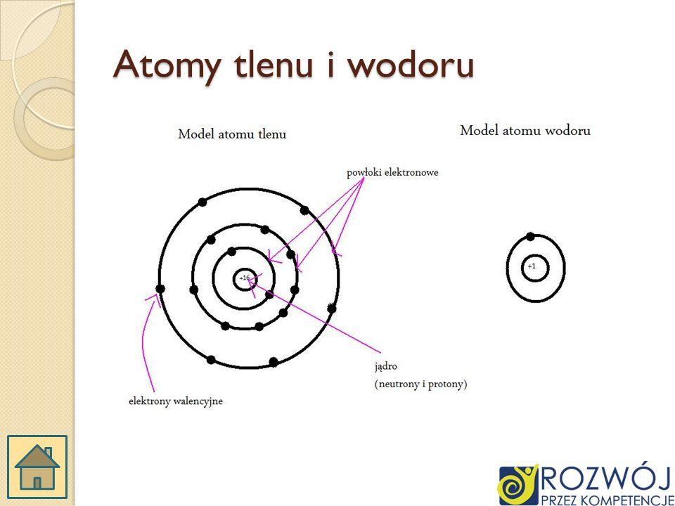 Atomy tlenu i wodoru