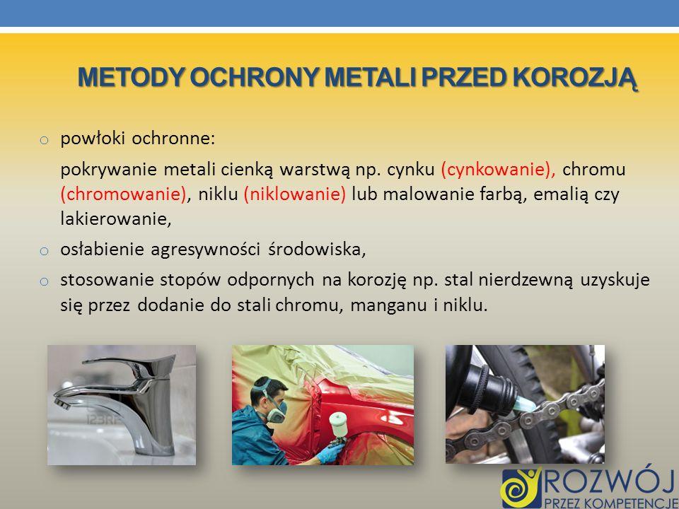 Metody ochrony metali przed korozją