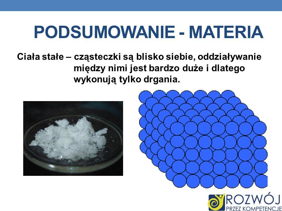 Podsumowanie - materia