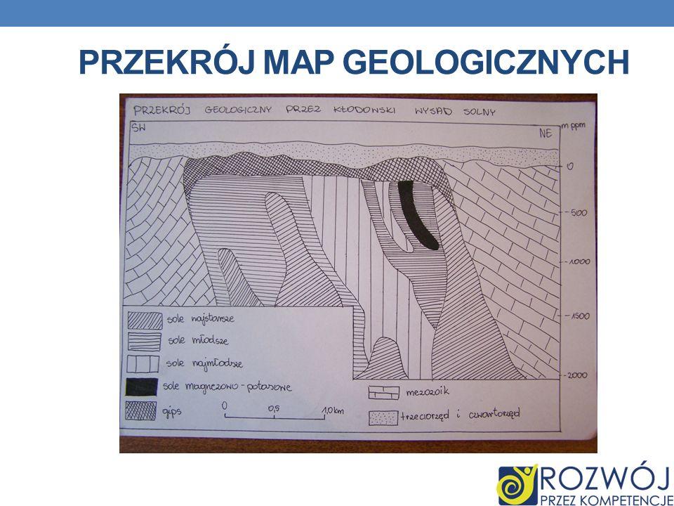 Przekrój map geologicznych
