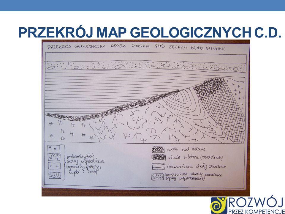 Przekrój map geologicznych c.d.