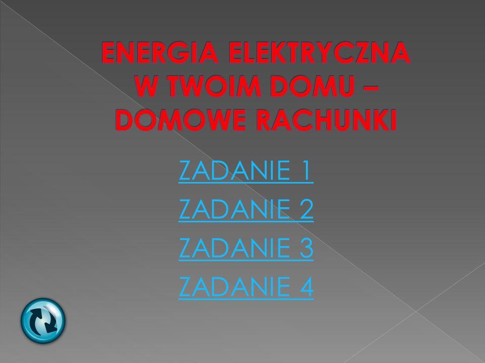 ENERGIA ELEKTRYCZNA W TWOIM DOMU – DOMOWE RACHUNKI