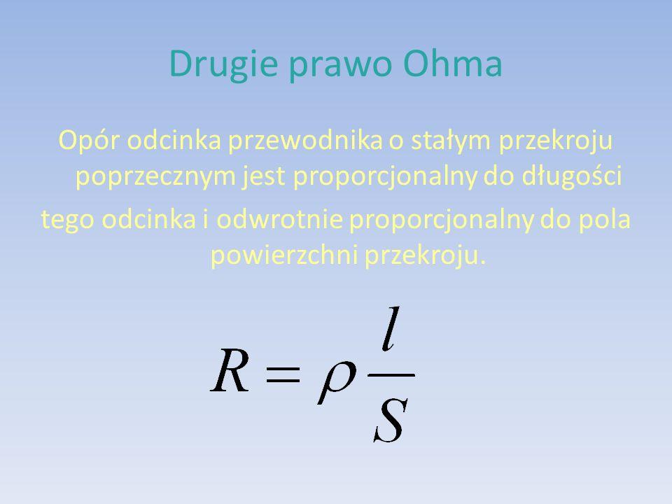 Drugie prawo Ohma