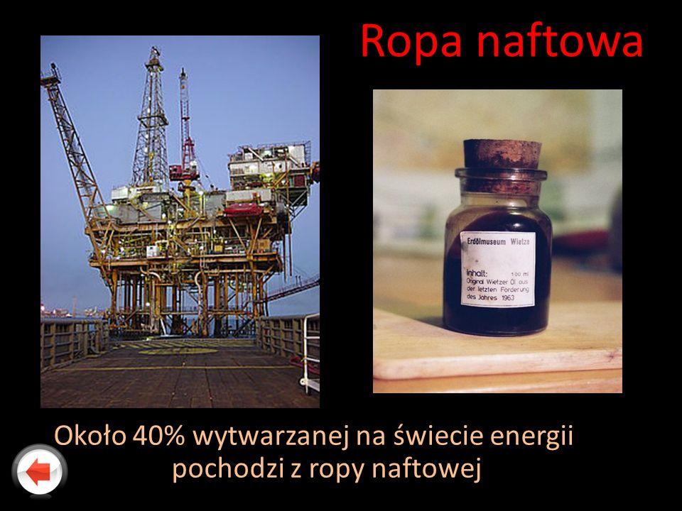 Około 40% wytwarzanej na świecie energii pochodzi z ropy naftowej