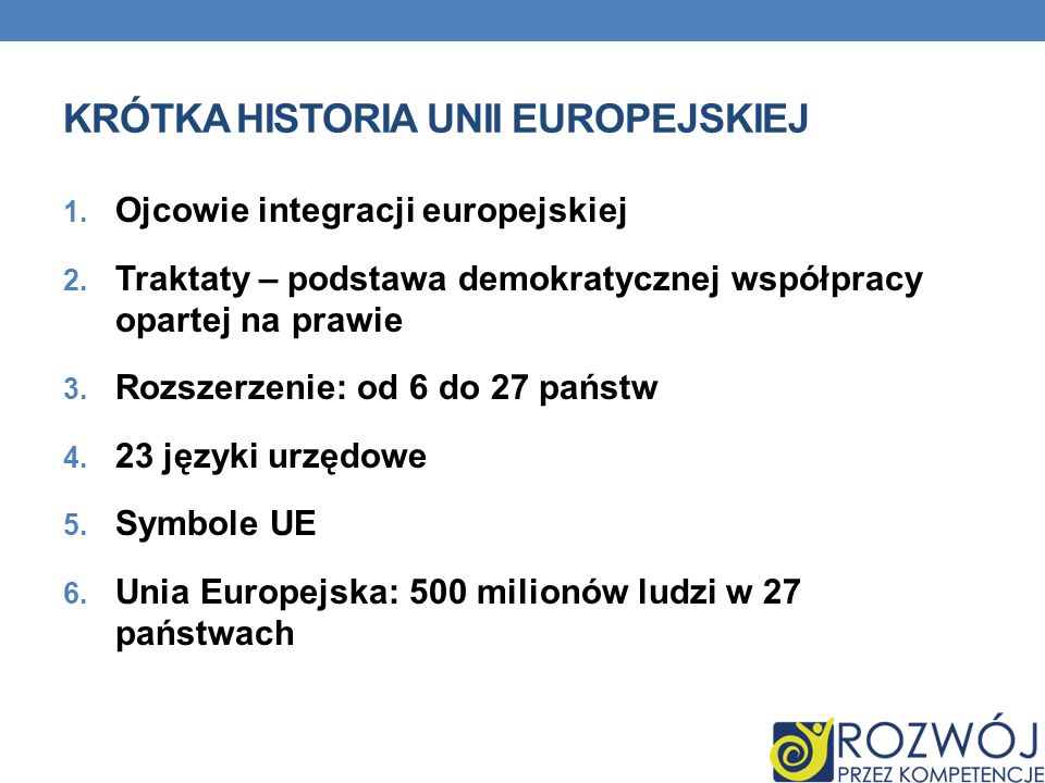 Krótka historia unii europejskiej
