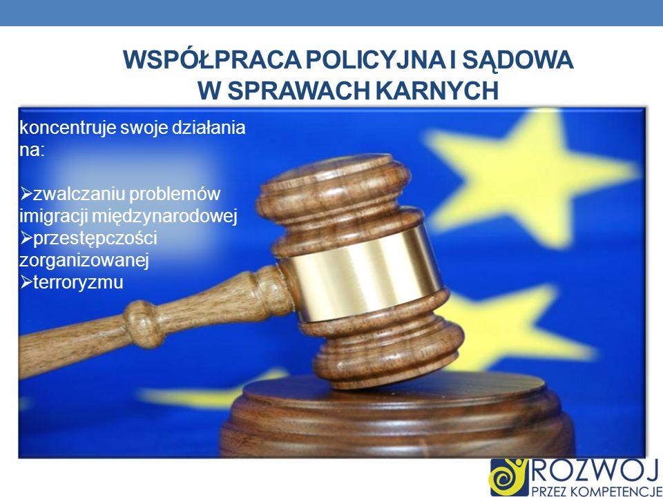 Współpraca policyjna i sądowa w sprawach karnych