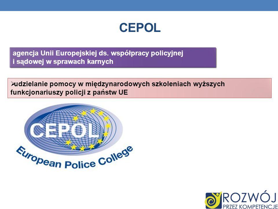 Cepol agencja Unii Europejskiej ds. współpracy policyjnej i sądowej w sprawach karnych.