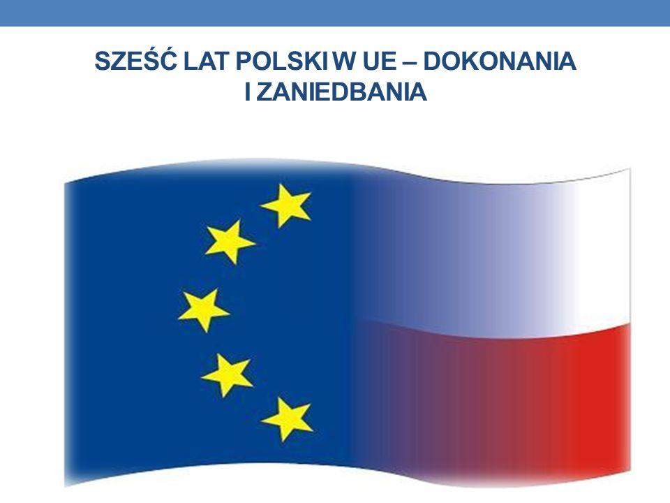 SZEŚĆ LAT POLSKI W UE – DOKONANIA I ZANIEDBANIA