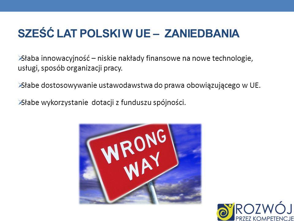 sześć lat Polski w UE – zaniedbania