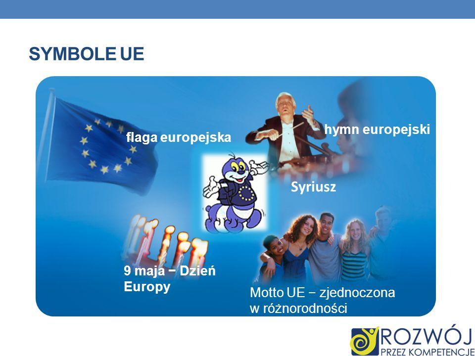 Symbole UE Syriusz hymn europejski flaga europejska
