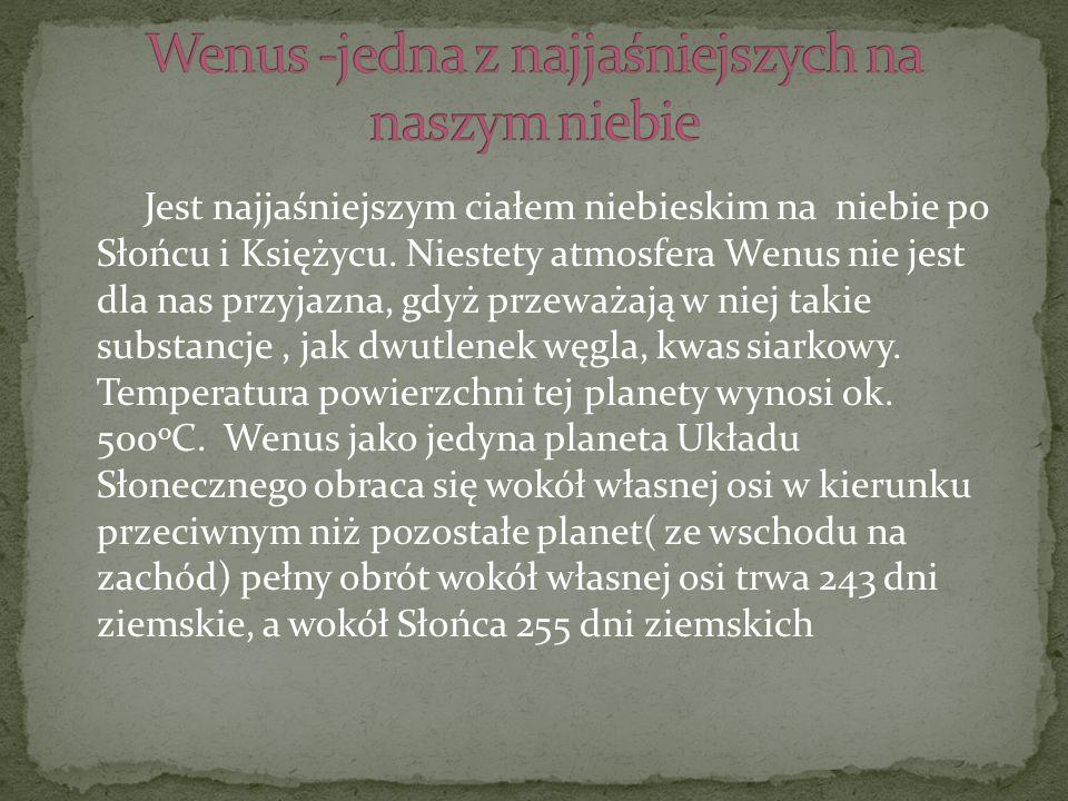 Wenus -jedna z najjaśniejszych na naszym niebie