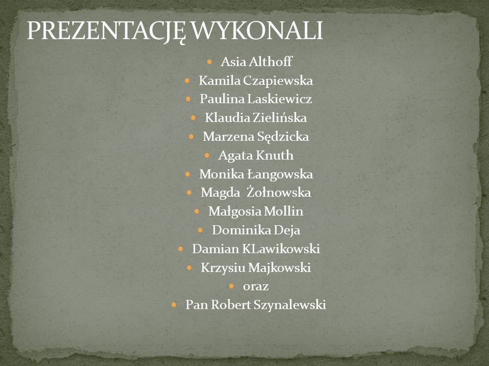 Pan Robert Szynalewski