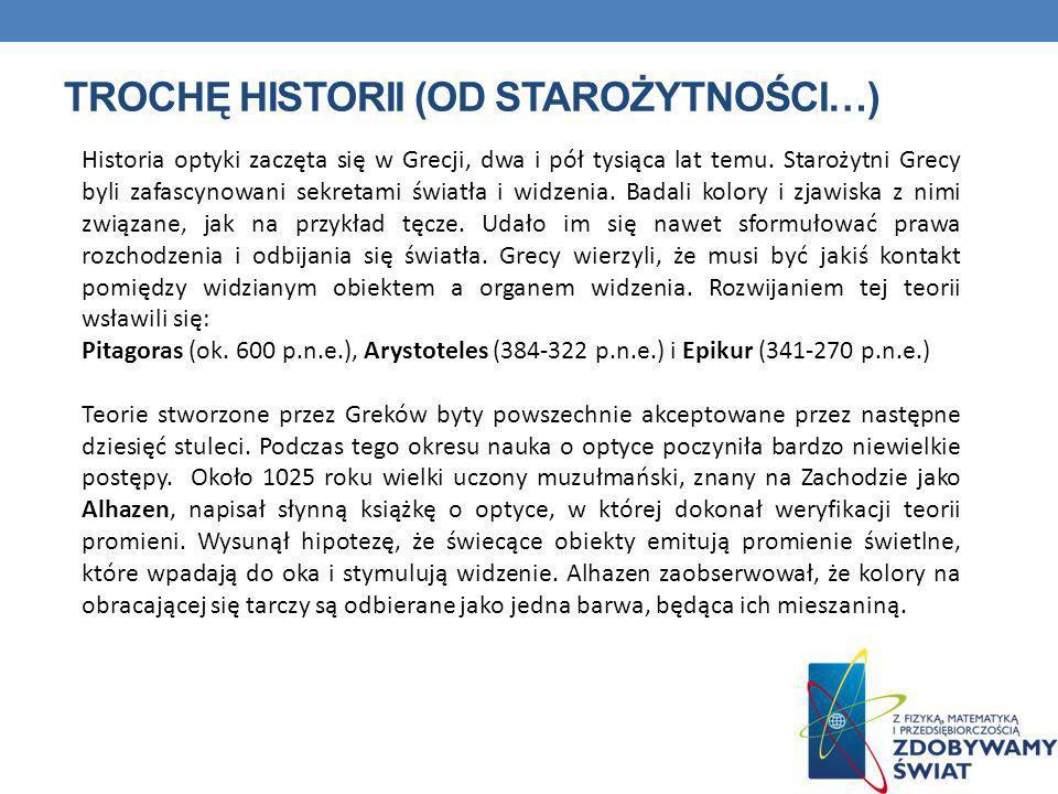 TROCHĘ HISTORII (od starożytności…)